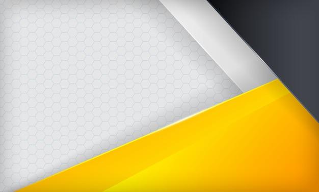 Abstrakter gelber, weißer und schwarzer deckungshintergrund. moderne vorlage.