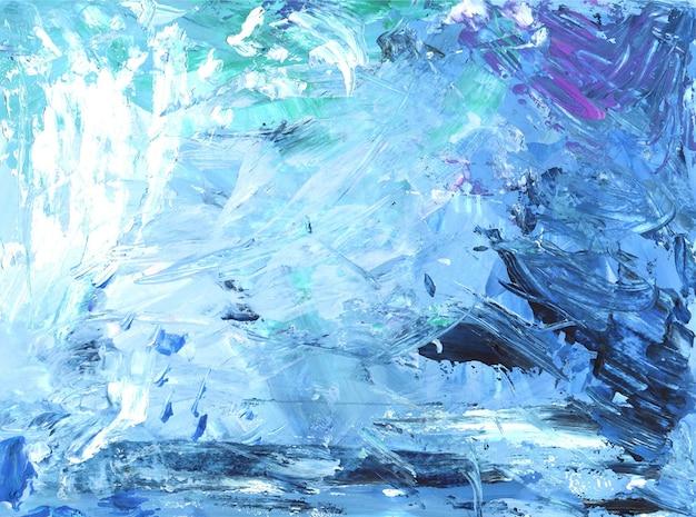 Abstrakter gemalter hintergrund blaue ozeanfarbe