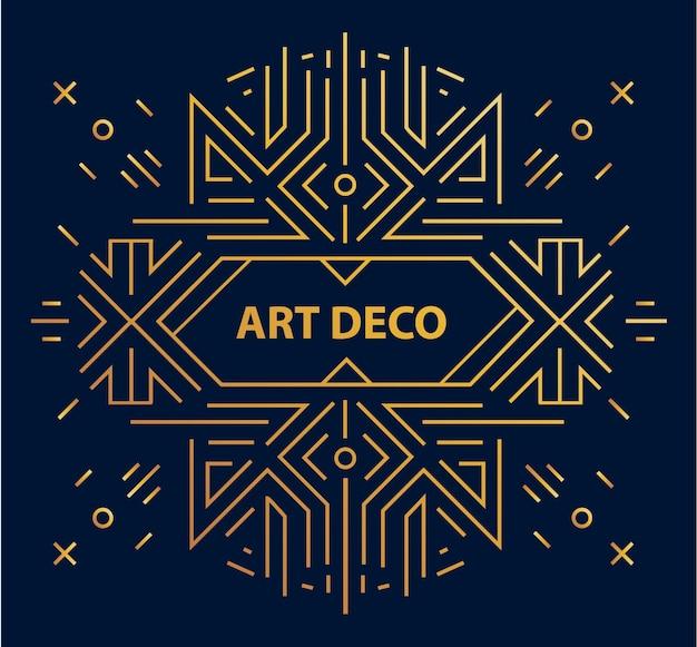 Abstrakter geometrischer art-deco-rahmen, rand, hintergrund. linearer trendiger stil.