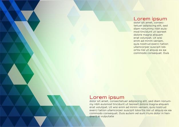 Abstrakter geometrischer blauer farbhintergrund mit kopienraum