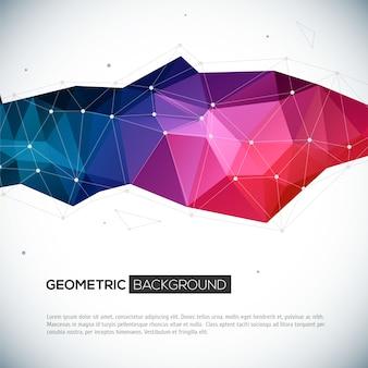 Abstrakter geometrischer bunter hintergrund 3d.