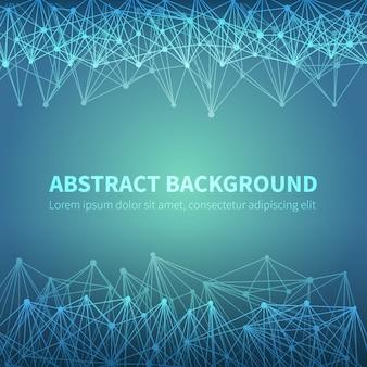 Abstrakter geometrischer chemischer wissenschaftlicher vektorhintergrund mit molekülstruktur