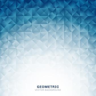 Abstrakter geometrischer dreieckmuster-blauhintergrund