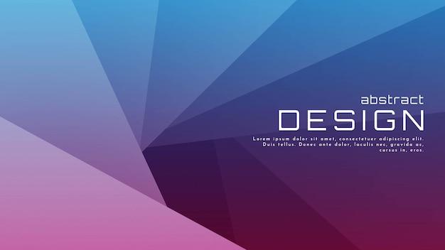 Abstrakter geometrischer formhintergrund mit farbverlauf mit kornstruktur für web-landingpage und tapeten