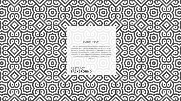 Abstrakter geometrischer formlinienhintergrund mit beispieltextschablone