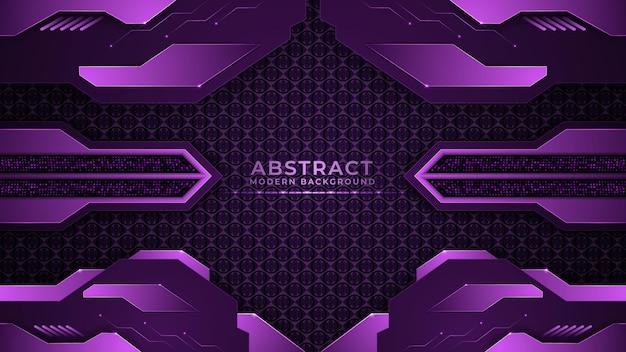 Abstrakter geometrischer futuristischer lila hintergrund