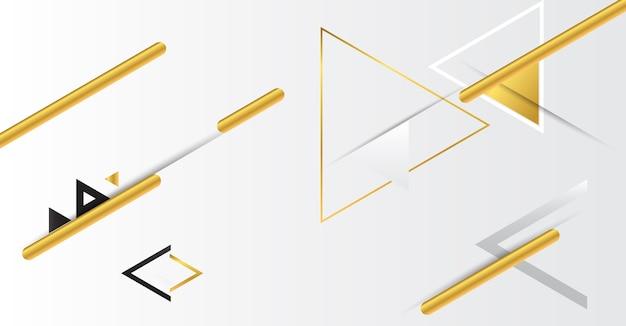 Abstrakter geometrischer goldhintergrund mit dreiecken.