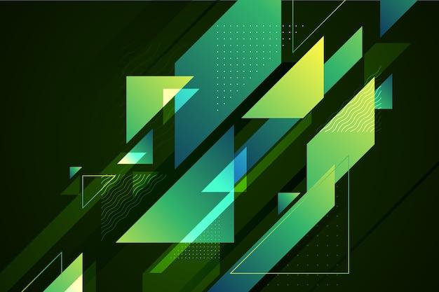 Abstrakter geometrischer grüner hintergrund