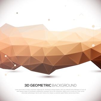 Abstrakter geometrischer hintergrund 3d