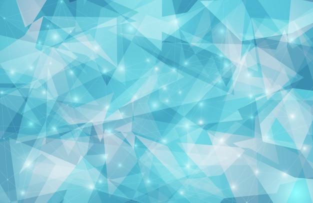 Abstrakter geometrischer hintergrund des dreiecks