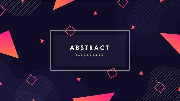 Abstrakter geometrischer hintergrund mit bunten formen vektor