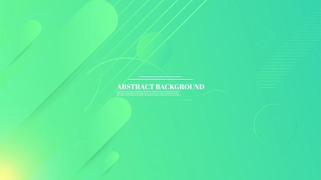 Abstrakter geometrischer hintergrund mit grüner farbverlaufsfarbe