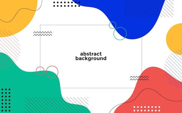 Abstrakter geometrischer hintergrund mit memphis-stil