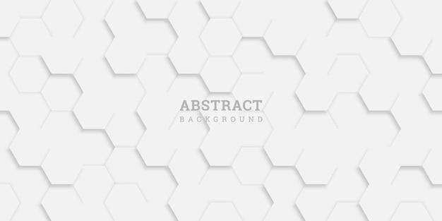 Abstrakter geometrischer hintergrund mit sechsecken im papierstil