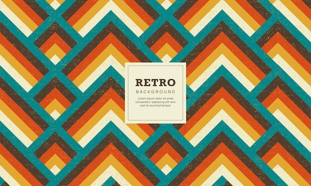 Abstrakter geometrischer hintergrund mit vintage- und retro-stil
