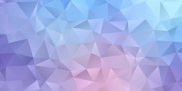 Abstrakter geometrischer hintergrund. polygon-dreieck-tapete in der weichen blauen lila farbe. muster