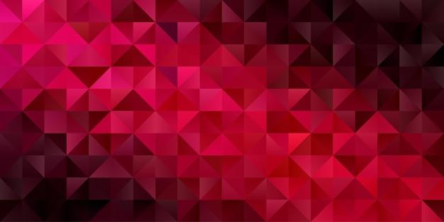Abstrakter geometrischer hintergrund. polygon dreieck tapete in dunkelroter farbe. muster