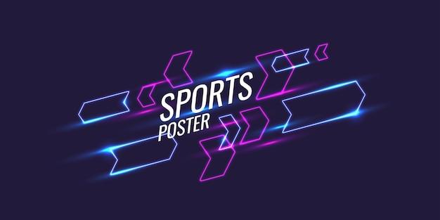 Abstrakter geometrischer hintergrund. sportplakat mit geometrischen figuren. vektor-illustration.
