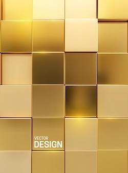 Abstrakter geometrischer hintergrund von goldenen kubischen formen