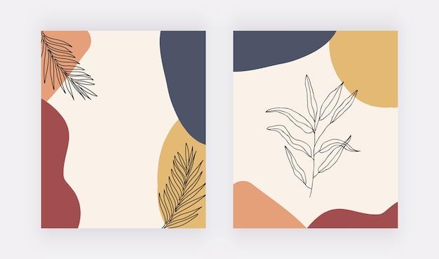 Abstrakter geometrischer kunstdruck der mitte des jahrhunderts