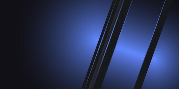 Abstrakter geometrischer metallhintergrund des dunklen himmelblauen abstrakten mit blauen und grauen linien. dunkler technologiehintergrund.