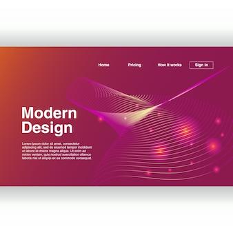 Abstrakter geometrischer moderner entwurf für landungsseite