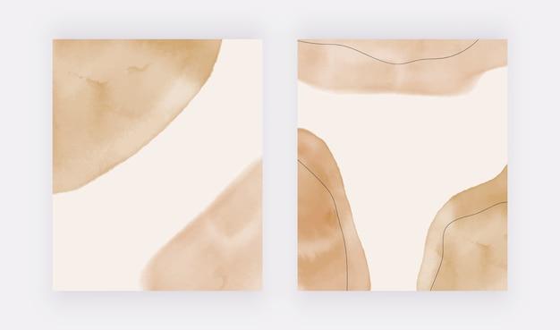 Abstrakter geometrischer neutraler kunstdruck der mitte des jahrhunderts, boho-dekor, moderner skandinavischer druck