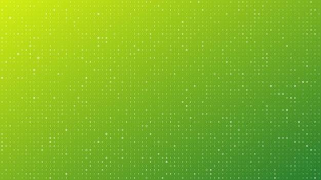 Abstrakter geometrischer steigungsquadrathintergrund. grüner punkthintergrund mit leerem raum. vektor-illustration.