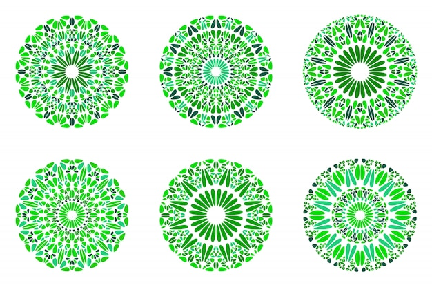 Abstrakter geometrischer steinmandala-symbolsatz