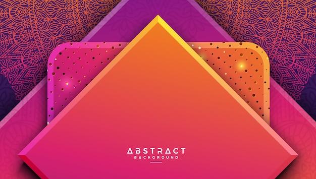 Abstrakter geometrischer vektorhintergrund mit mandalamuster