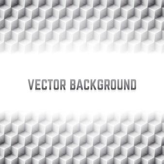 Abstrakter geometrischer vektorhintergrund mit würfeln 3d