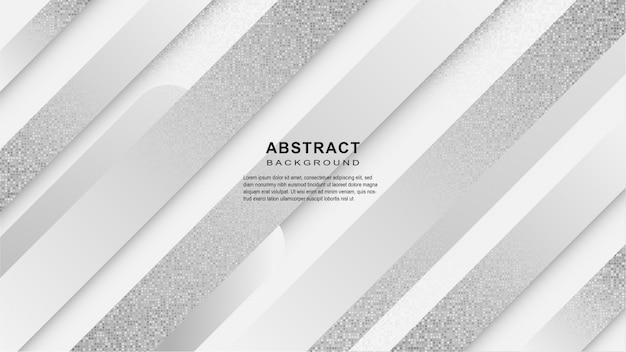 Abstrakter geometrischer weißer und grauer hintergrund