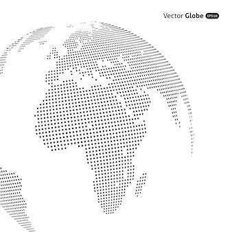 Abstrakter gepunkteter globus