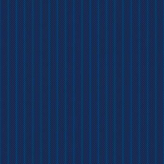 Abstrakter gestreifter strickpullover-muster-vektor-nahtloser hintergrund mit schattierungen von blauen farben wool