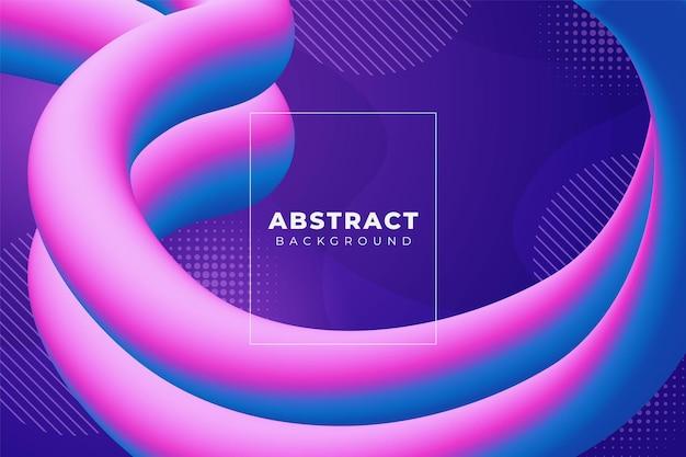 Abstrakter gewellter flüssiger hintergrund glatter farbverlauf blau rosa