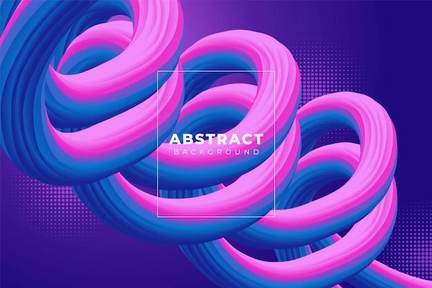 Abstrakter gewellter flüssiger hintergrund mit weichem farbverlauf in rosa und blau