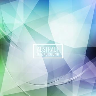 Abstrakter gewellter geometrischer hintergrund