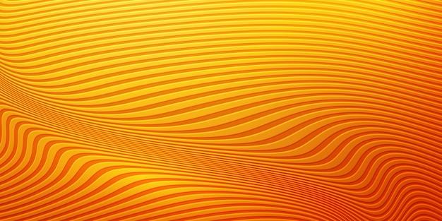 Abstrakter gewellter orange hintergrund.