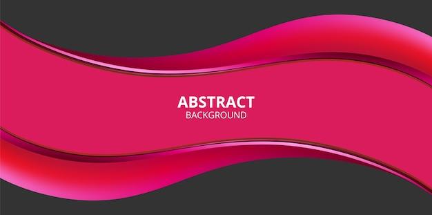 Abstrakter gewellter rosa hintergrund