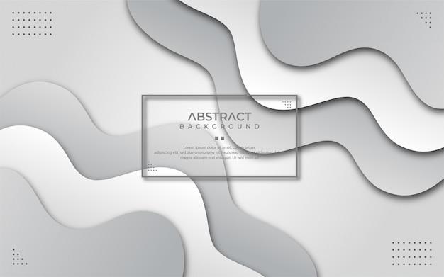 Abstrakter gewellter weißer und grauer hintergrund im papierstil