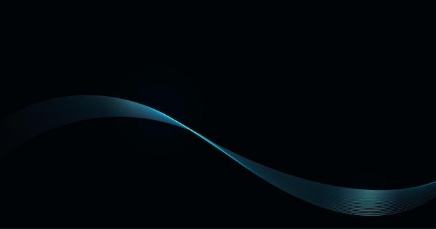 Abstrakter glänzender blauer wellenhintergrund.