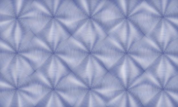 Abstrakter glänzender metallhintergrund mit kreisförmiger gebürsteter textur in blauen farben