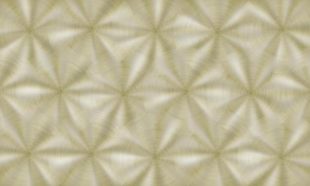 Abstrakter glänzender metallhintergrund mit kreisförmiger gebürsteter textur in goldenen farben