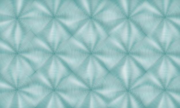 Abstrakter glänzender metallhintergrund mit kreisförmiger gebürsteter textur in hellblauen farben