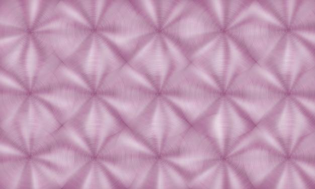 Abstrakter glänzender metallhintergrund mit kreisförmiger gebürsteter textur in rosa farben