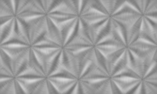 Abstrakter glänzender metallhintergrund mit kreisförmiger gebürsteter textur in silbernen farben