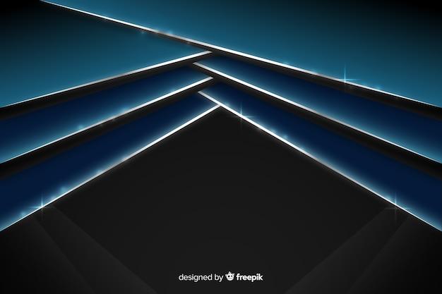 Abstrakter glänzender metallischer blauer hintergrund