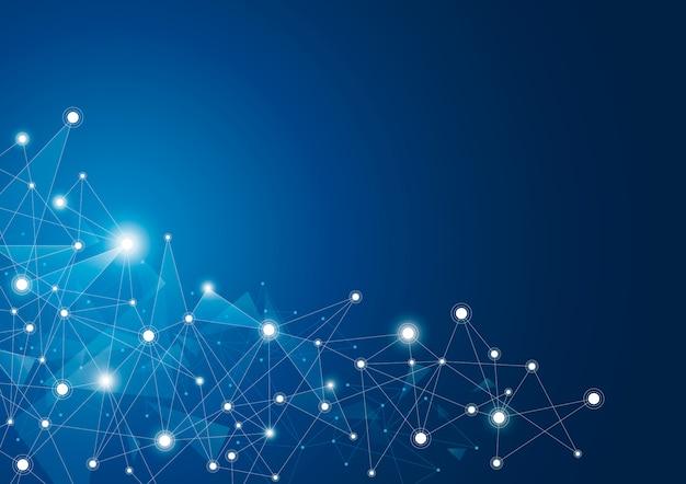 Abstrakter globaler netzwerkverbindungshintergrund