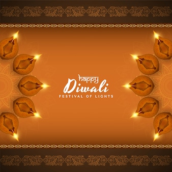 Abstrakter glücklicher schöner dekorativer hintergrund diwali