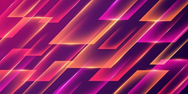 Abstrakter glühender geometrischer hintergrund mit purpurroter farbe.